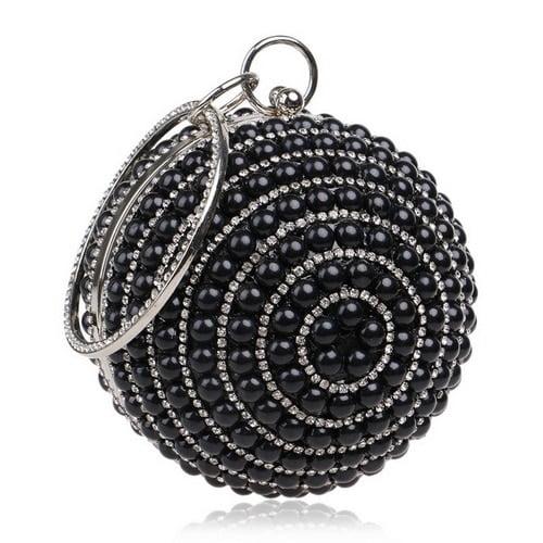 Ball Diamond Tassel Women Party Metal Crystal Clutches Evening Wedding Bag Bridal Shoulder Handbag Wristlets Clutch