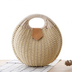 Summer Shell Straw Bags for Women Handmade Rattan Woven Bag Beach Handbag Women Handbags and Purses Female Totes