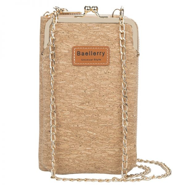 Baellerry Women's Wallet Women New Handbag Purse Lady Phone Bag Long Wristlet Wallets Clutch Messenger Wood Shoulder Straps Bag
