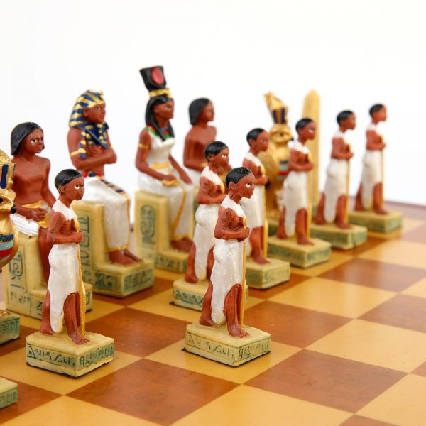 Chess Set Theme of Egypt Rome War Chess Sets Resin Chess Pieces Wooden Board Game Chess Set Luxury Themed Chess