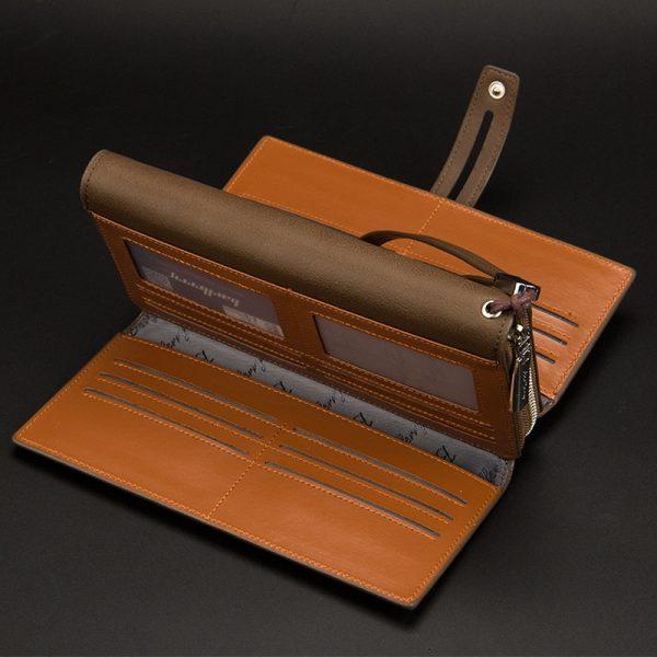 Baellerry Wallet Male Clutch Wallets Large Phone Bag Unique Design Men Purse Turnover Handbag Multifunction Card Holder Wallet