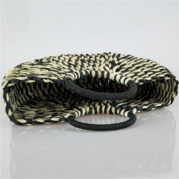 2021 New Women round bucket semicircle straw bag handmade net color woven basket rattan handbag