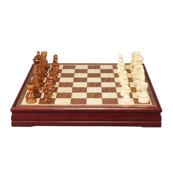 New High Quality Pattern Chess Pieces Wood Coffee Table Professional Chess Board Family Game Chess Set Traditional Game qenueson