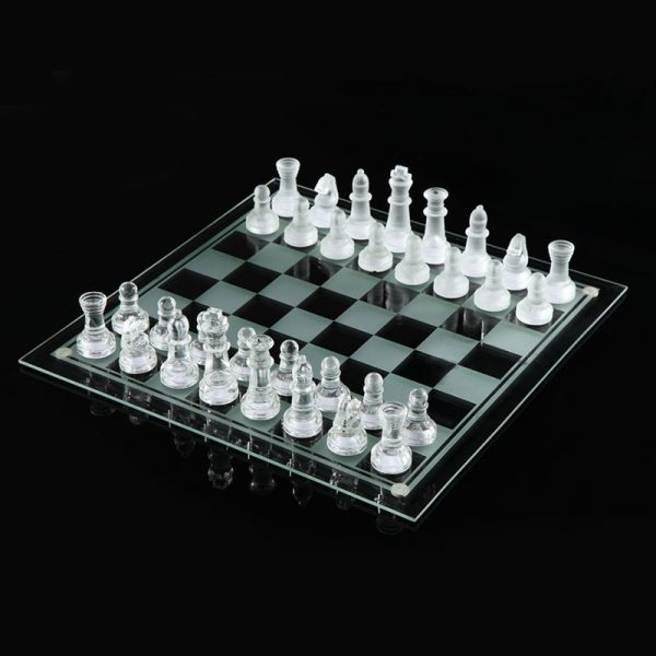 25*25cm K9 Glass chess medium wrestling Packaging International Chess Game International Chess Set Thinking toy