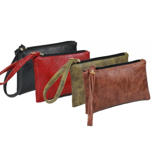 2021 Patchwork Men Women Wallets PU Leather Money Bag Zipper Clutch Coin Purse Phone Holder Wristlet Portable Handbag Party Gift