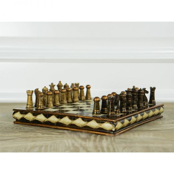 New Refined High-grade Resin Wooden Chess Set Handwork EPMC Pieces Classic Decoration Household Exquisite Gift Crafts Board Game