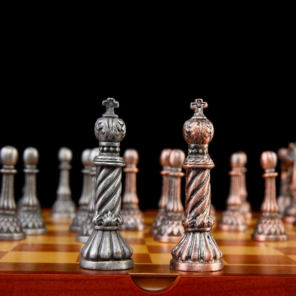 Themed Chess Free Shipping High Quality New Arrival Tin Zinc Alloy Metal Chess Set Rome Style Chess Pieces Chess Set Luxury