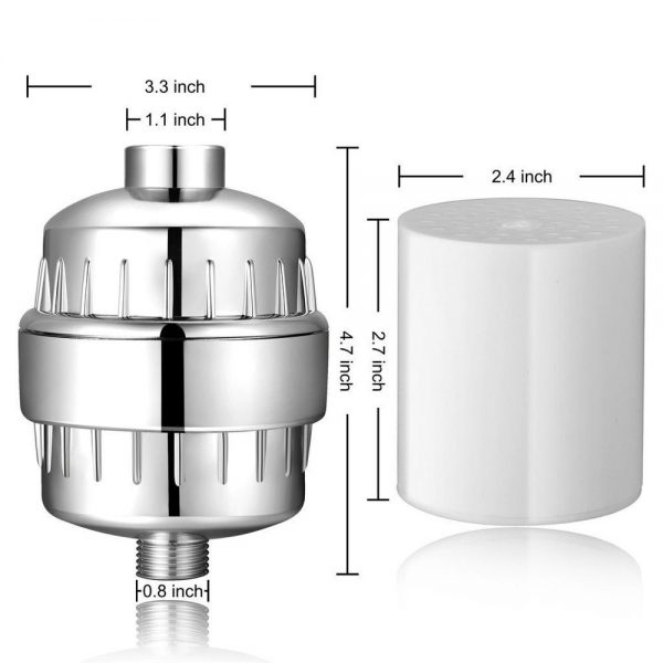 15 Layer Water Purifier Bathroom Shower Water Filter Multistage Activated Carbon Health Softener Chlorine Removal