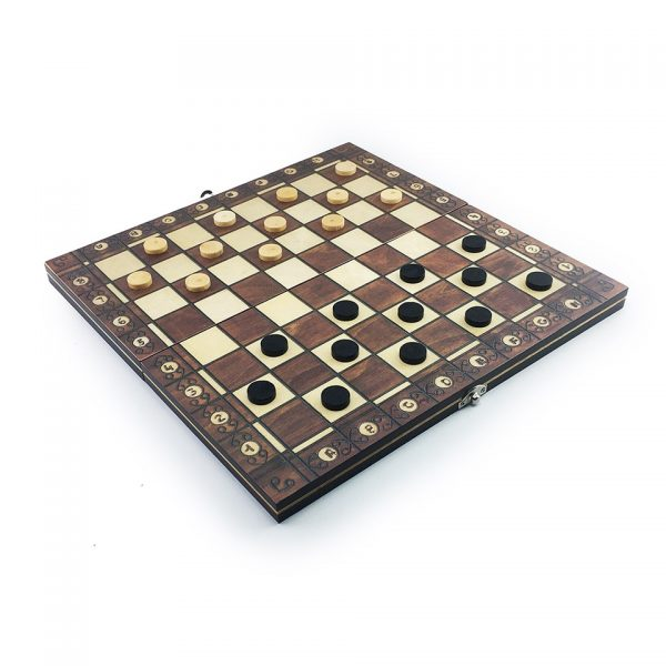 Super Magnetic Wooden Chess Backgammon Checkers 3 in 1 Chess Game Ancient Chess Travel Chess Set Wooden Chess Piece Chessboard