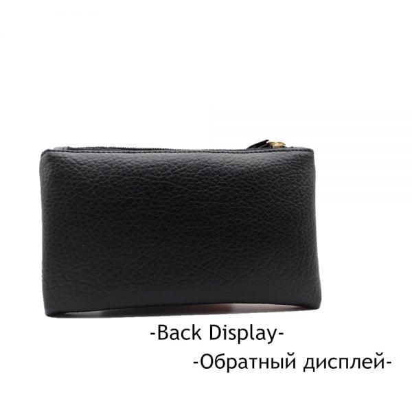 2021 Black & Red Men Women Wallets PU Leather Bag Zipper Clutch Coin Purse Phone Wristlet Portable Long Shopping Handbag