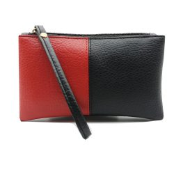 2021 Black & Red Men Women Wallets PU Leather Bag Zipper Clutch Coin Purse Phone Wristlet Portable Long Shopping Handbag