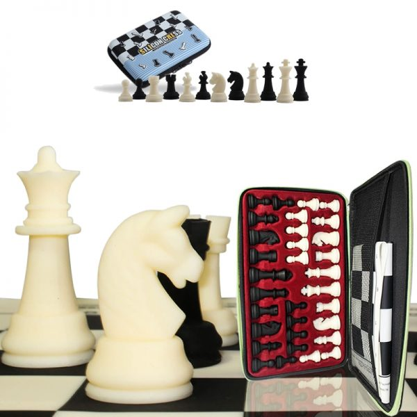 Top Grade Portable Cloth Bag Exquisite Silica Gel Nti-impact Hand Engraving Chess Set Silicone Chessboard Child Gift Board Games