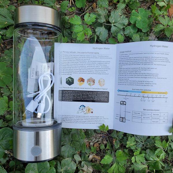 420ML Hydrogen Water Generator Alkaline Maker Rechargeable Portable for pure H2 hydrogen-rich water bottle electrolysis