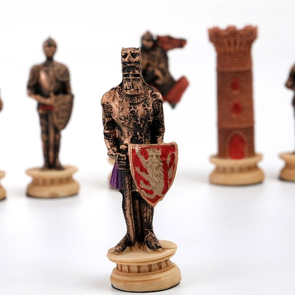 Chess Set Middle Ages Knight Battle Theme Chess Setportable Traveling Intelligence Game Chess Set Luxury Themed Chess