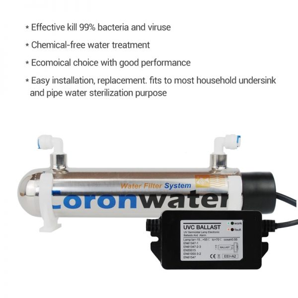 0.5gpm Ultraviolet Water Filter for Household Water Sterilization SSE-5215