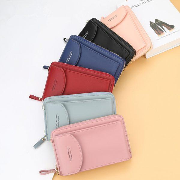 Baellerry Wallet Women Phone Wallet 2020 Purse Bag Women's Handbag Long Wristlet Wallets Clutch Messenger Shoulder Straps Bag