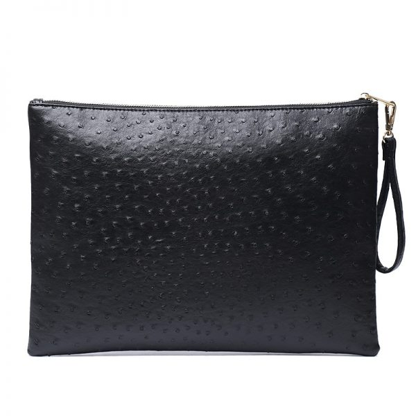 Women Large Leather Clutch Pouch Crocodile Ostrich Envelope Wristlet Bag Fashion Python Laptop Bag For Macbook Pouch Bag