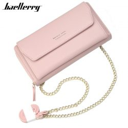 Baellerry Phone Bag Women's Wallet Korea Wristlet Bag Handbag Purse Womens Wallet Card Holder Pocket Ladies Clutch Shoulder Bag