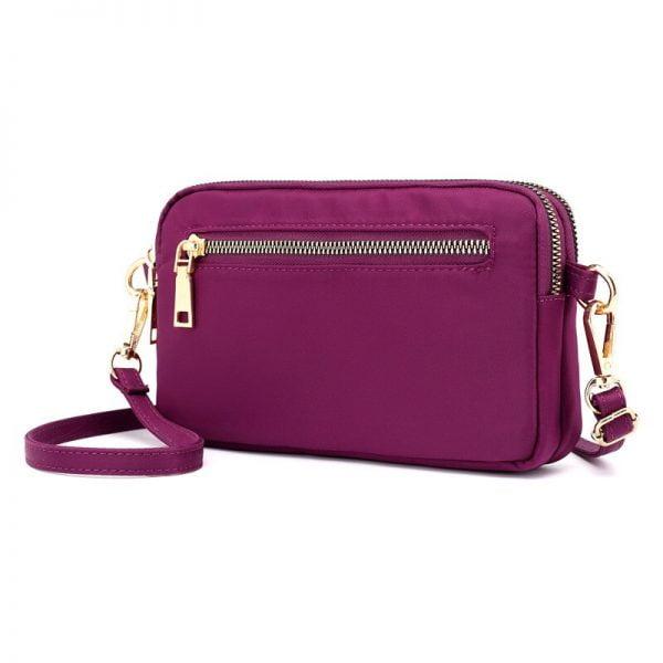 Minimalist Crossbody Bags for Women Small Flap Messenger Bag Lady Travel Waterproof Clutch Bag with Wristlet Crossbody Purse