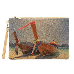 Natural Portugal Cork Handbag Cork Clutch Sea Beach Boat Bags Wooden Purse