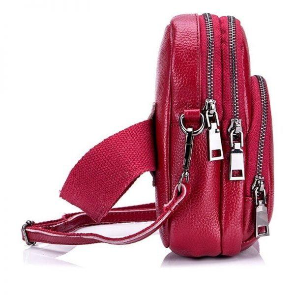 Famous Brand Small Flap Cow Leather Women Crossbody Bags Fashion Design Women Shoulder Bags Ladies Handbags Ladies Phone Pocket