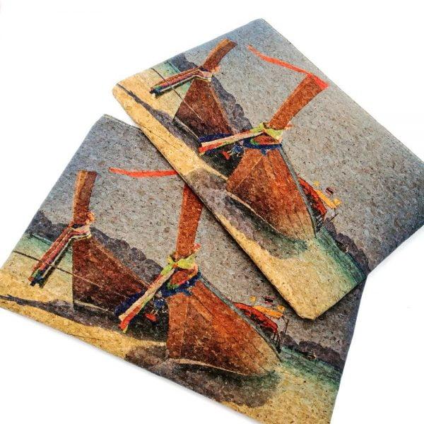 Natural Portugal Cork Handbag Cork Clutch Sea Beach Boat Bags Wooden Purse