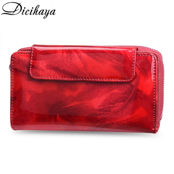 NEW Women Wallets Lady Wristlet Handbags REAL Leather Money Bag Zipper Coin Purse Cards ID Holder Clutch Woman Notecase