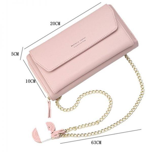 Baellerry Phone Bag Women's Wallet Korea Wristlet Bag Handbag Purse Womens Wallet Card Holder Pocket Ladies Clutch Shoulder Bag