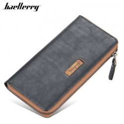 Baellerry New Youth Purse Men's Clutch Wallets Bag Fashion Wristlet Money Purse and Handbags Luxury Designer Card Holder Wallet