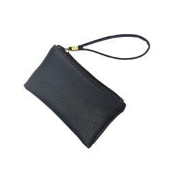 2021 New Fashion Solid Men Women Key Wallet PU Leather Handy Bag Zipper Clutch Coin Purse Phone Holder Mini Wristlet Handbag